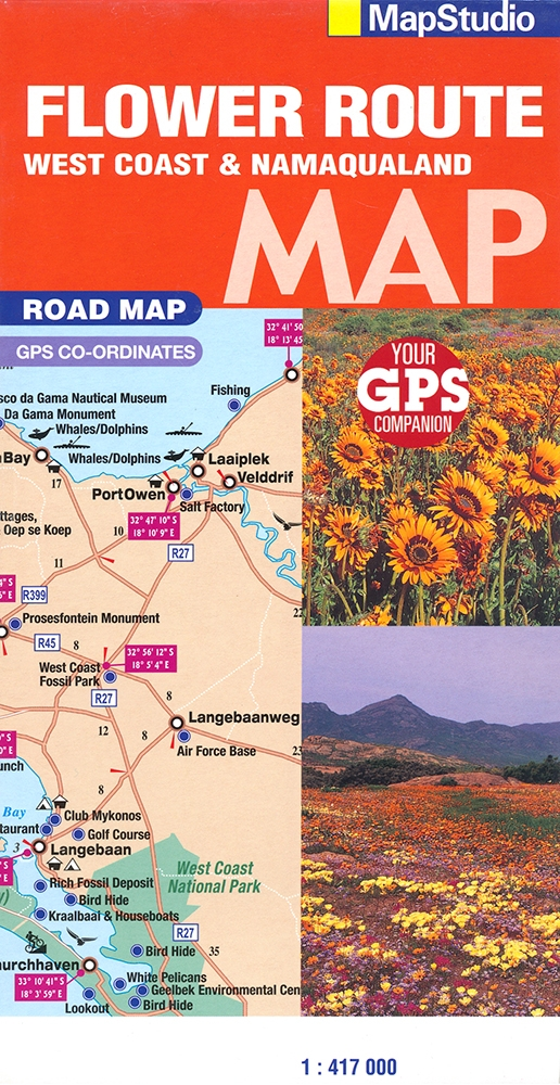 Flower Route, West Coast & Namaqualand Road Map (MapStudio)