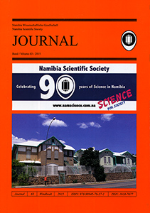 Journal 63-2015 (Namibia Scientific Society)