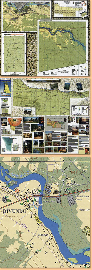Tourist Map/ Karte of the Kavango Region 1:500.000