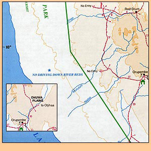 Kaokoland-Kunene-Region Tourist Map