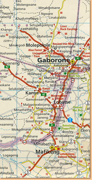 Kruger National Park Tourist Map 1:450.000 (MapStudio)