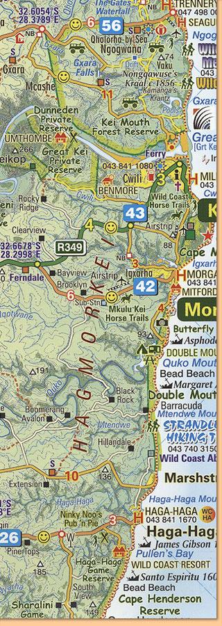 east london port st johns port edward map karte
