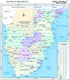 Area covered by MapStudio's Southern & East Africa Road Atlas. ISBN 9781770264366 / ISBN 978-1-77026-436-6