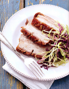 This is how delicious, crisp pork belly can look like. The recipe and this appetizing photo is from Hilary Biller's braaibook Fuss-free Braais (ISBN 9781431700097).