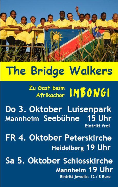 namibia chor bridge walkers kommt 2013 nach deutschland vorgestellt im namibiana buchdepot. Black Bedroom Furniture Sets. Home Design Ideas